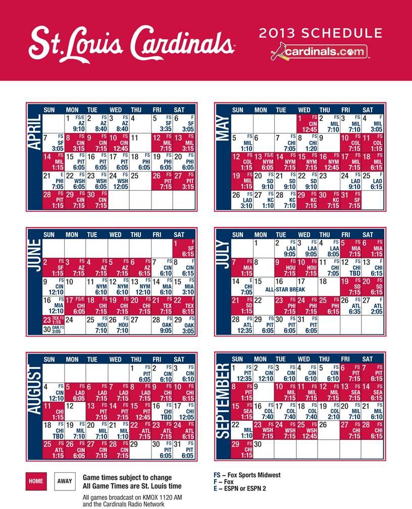 stl cardinals schedule giveaways