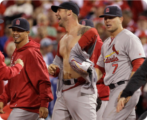 "I have to justify using the ""shirtless Chris Carpenter"" tag again ..."