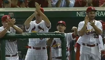 There was much to clap about as the Cardinals defeated the Dodgers 5-1.