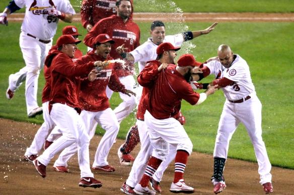 APTOPIX NLCS Dodgers Cardinals Baseball